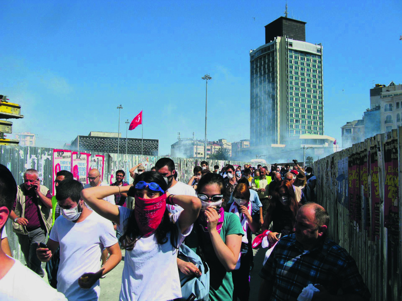 Demonstranten in Istanbul.  Foto: Frederik Schwarz.