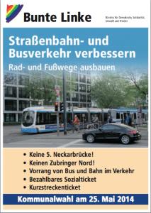 Wahlplakat der Bunten Linken.