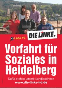 Das Wahlplakat der Linkspartei.