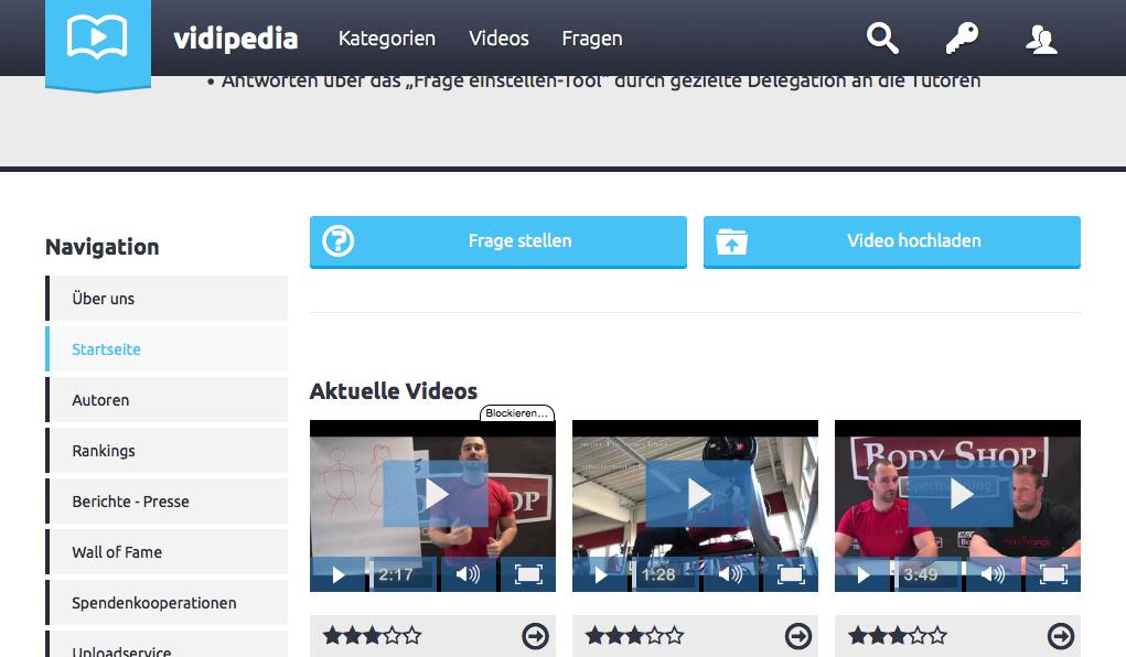 """Die Seite """"Vidipedia"""" will Wissen durch Videos vermitteln"""