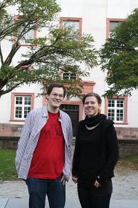 Sebastian Rohlederer und Constanze Erhard von der Grünen Hochschulgruppe