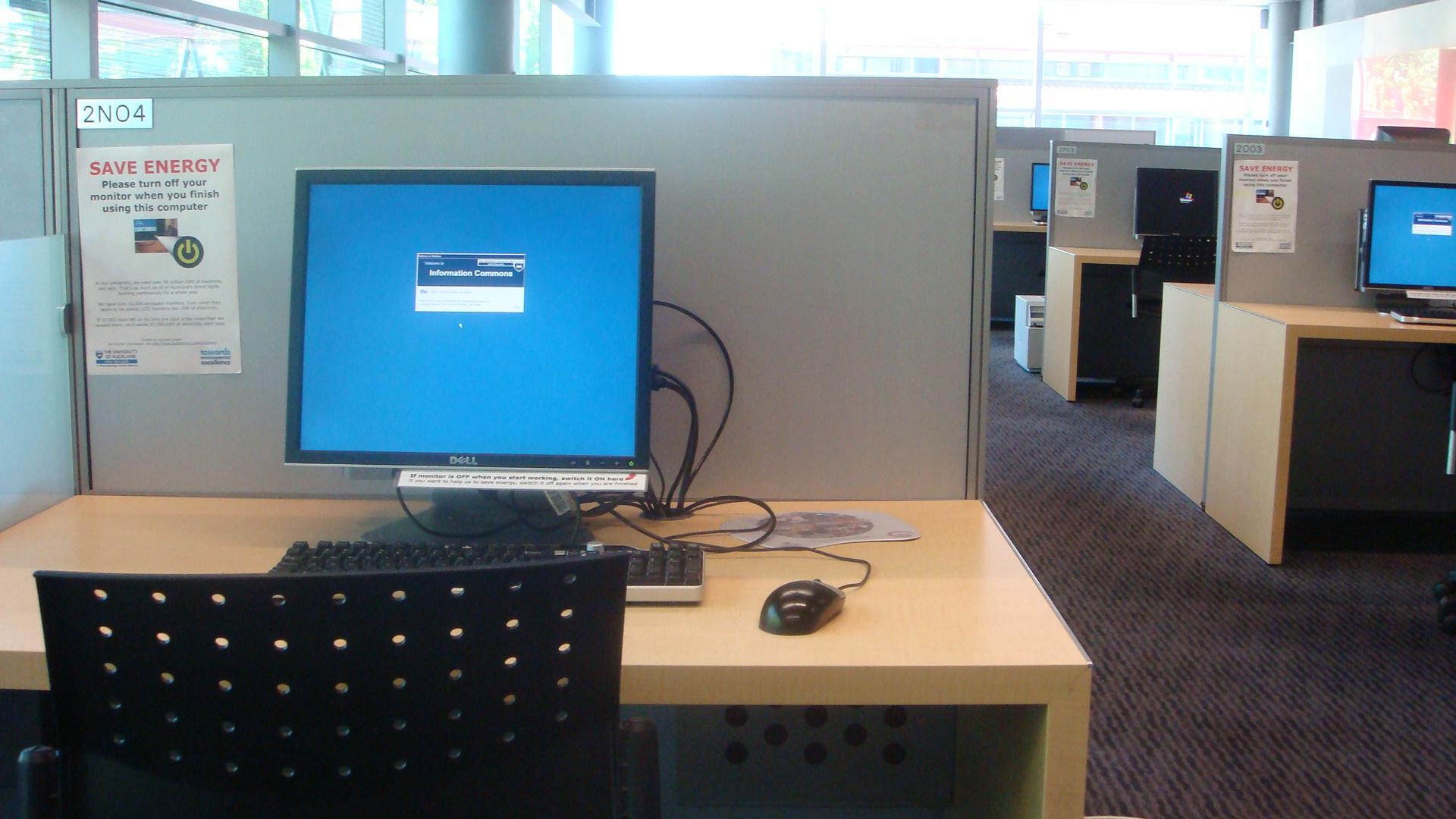 Immer weniger PC's stehen den Studenten zur Verfügung.