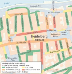 In manchen Straßen der Altstadt werden die gesetzlichen 40 Dezibel oft deutlich überschritten