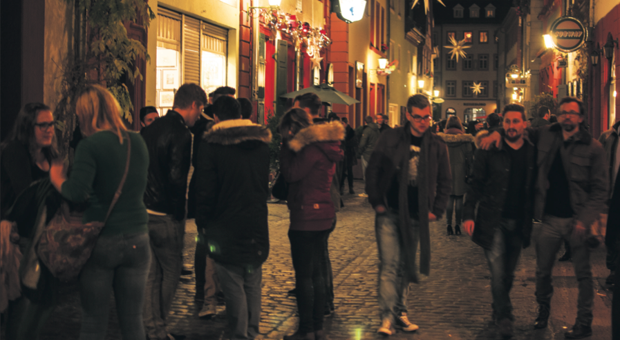Die Partymeile Heidelbergs. Bild: Felix Hackenbruch.