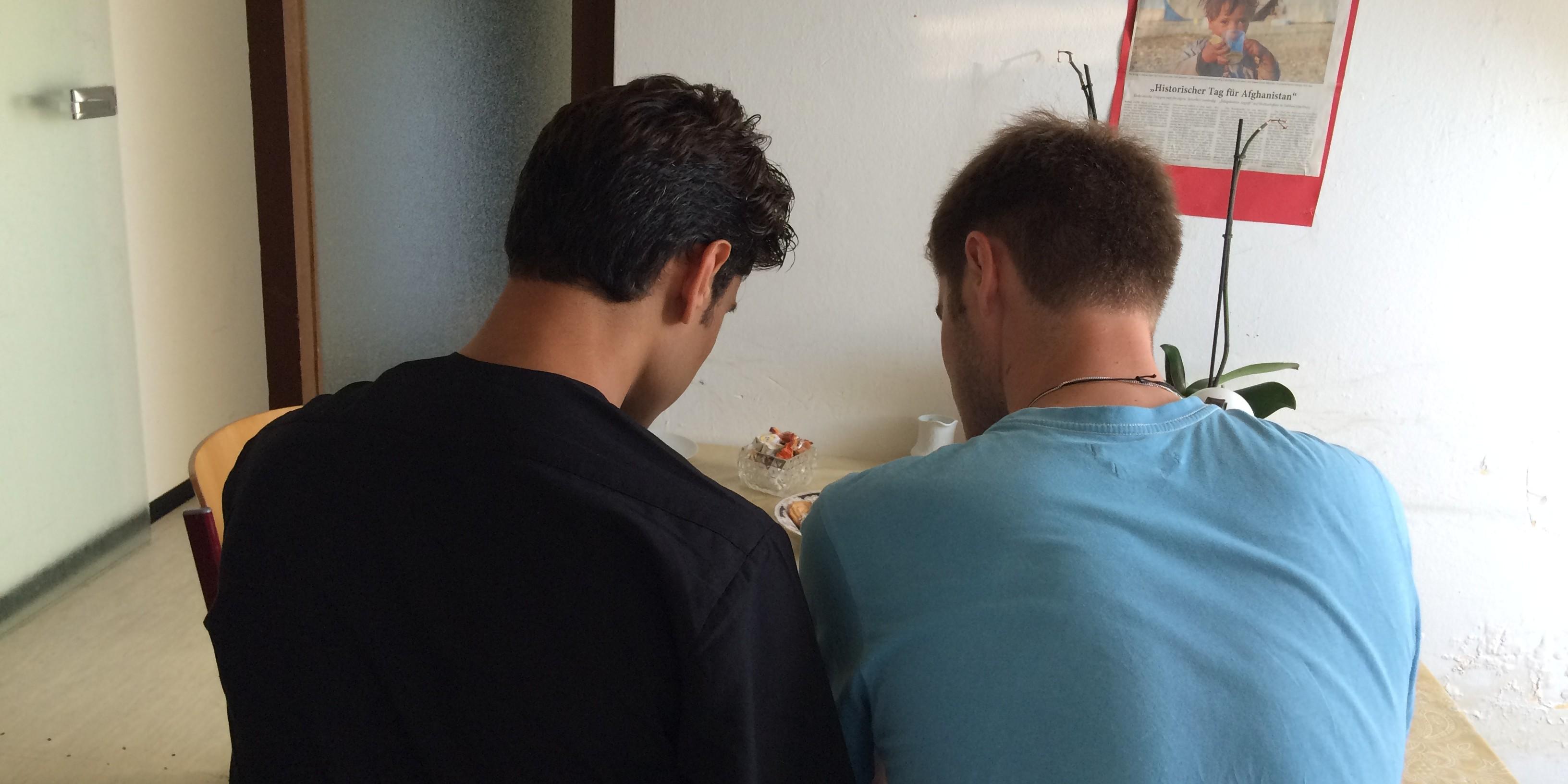 Seite an Seite - Vincent und Ali sind Freunde geworden. Bild: Privat