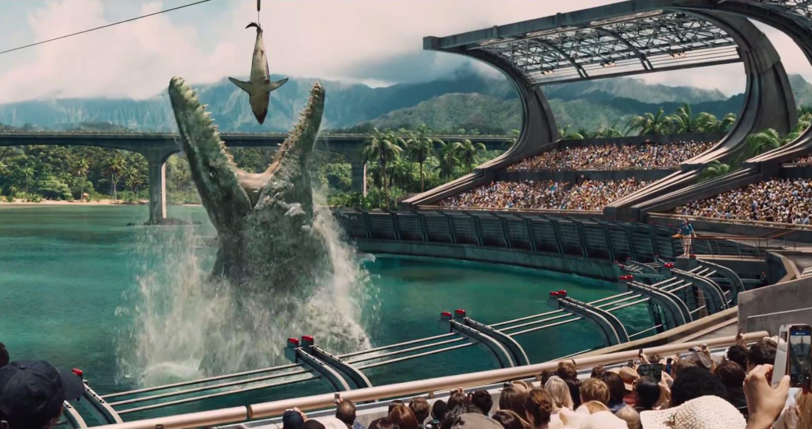 Die Saurier sind wieder los: Szene aus Jurassic World. Bild: Universal