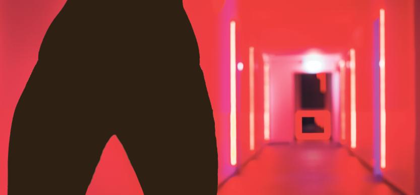 Rote Flure, dunkle Zimmer: Der Bienenstock öffnet seine Türen einen Spalt. Bild: foto@volker-rost.de, bearbeitet von Simon Koenigsdorff