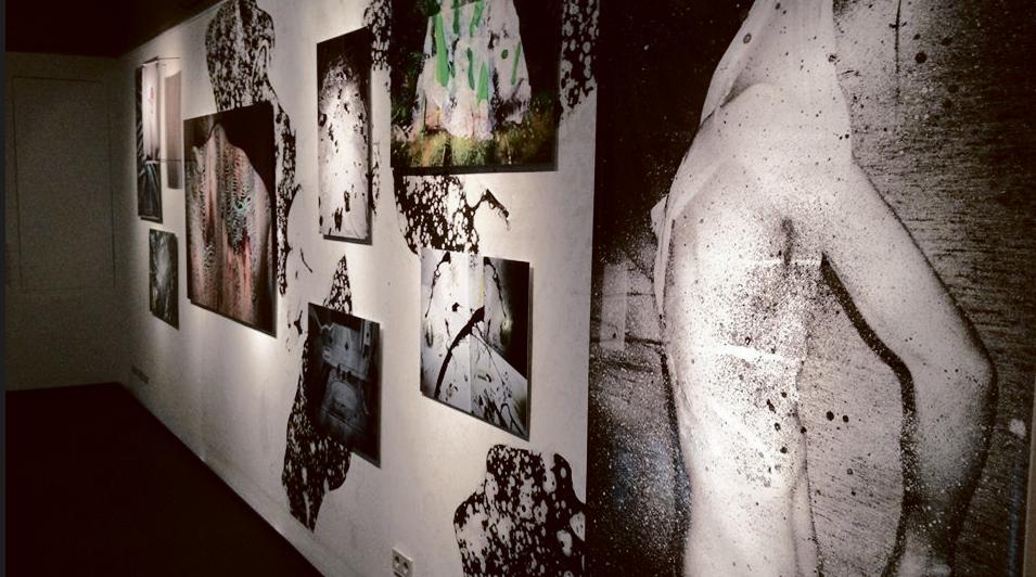 """Maya Rochats Arbeit """"Das Netz"""" versucht Körperlichkeit aufzulösen. Bild: Deborah Hankings-Evans"""