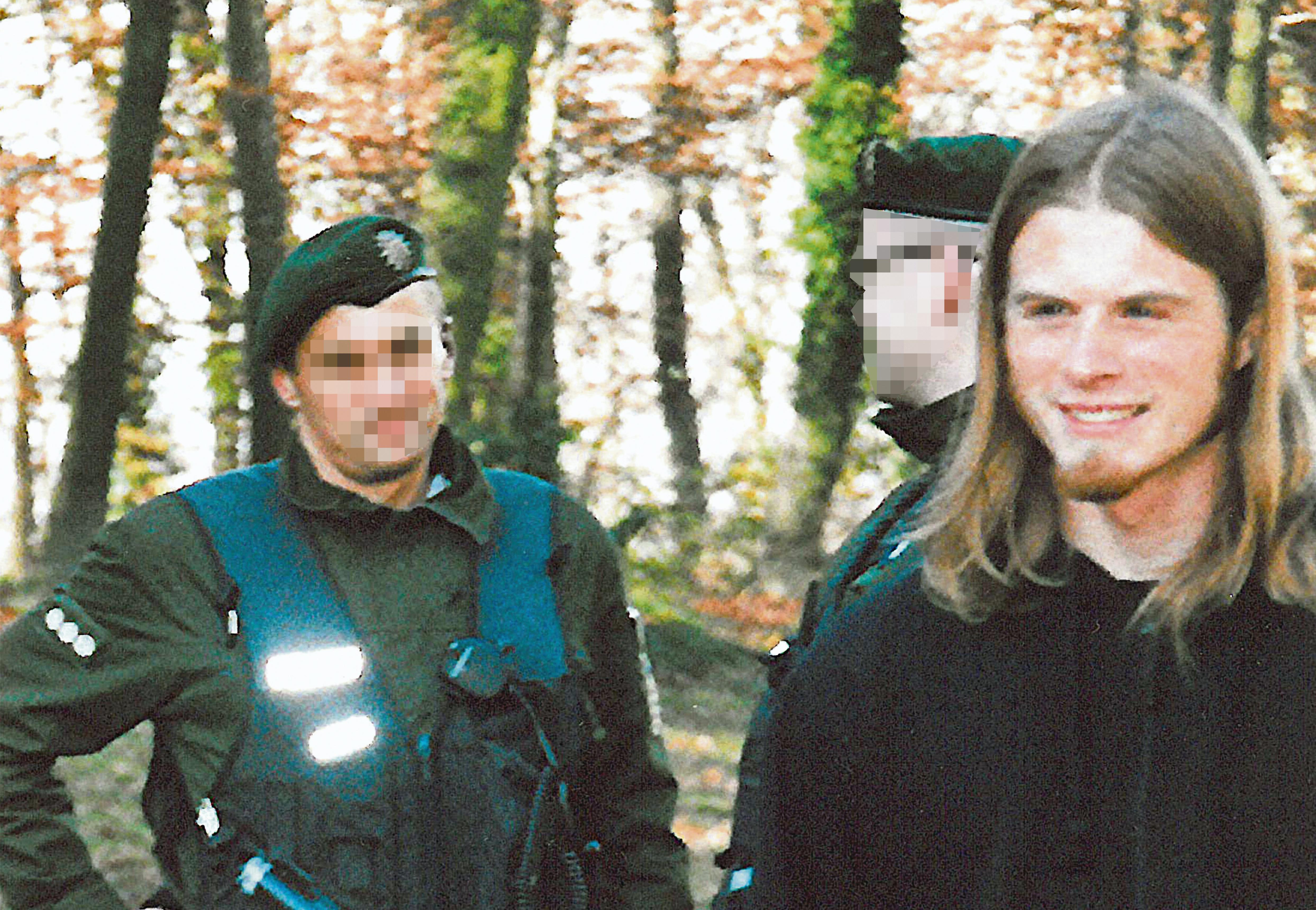 Der verdeckte Ermittler Simon Bromma als Teilnehmer einer Demonstration der Heidelberger Antifa im November 2010. Wenige Wochen später wurde er als Polizeispitzel enttarnt.