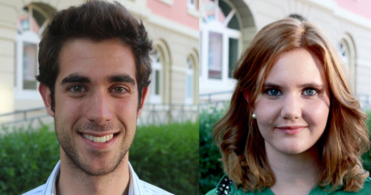"""Wechsel an der VS-Spitze: Louisa Erdmann und Pietro Viggiani übernehmen das Amt von Glenn """"Tenko"""" Bauer, der zuvor zurückgetreten war. Bild: Privat"""
