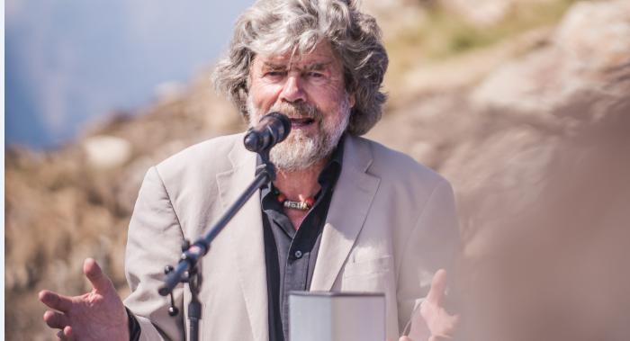 Reinhold Messner bei der Eröffnung eines seiner Mountain Museums in Corones. Foto: Presseabteilung Reinhold Messner Homepage