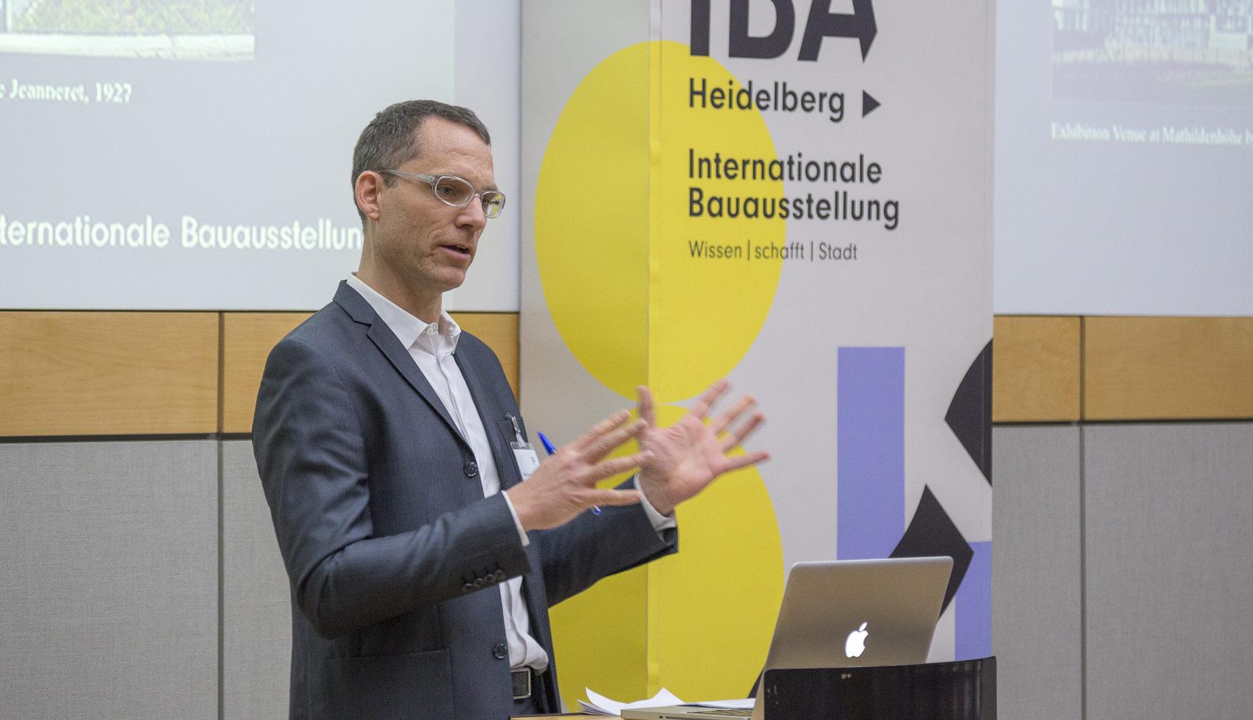 Carl Zillich, kuratorischer Leiter der IBA Heidelberg. Bild: ©Carl Zillich - IBA Heidelberg, Christian Buckj.