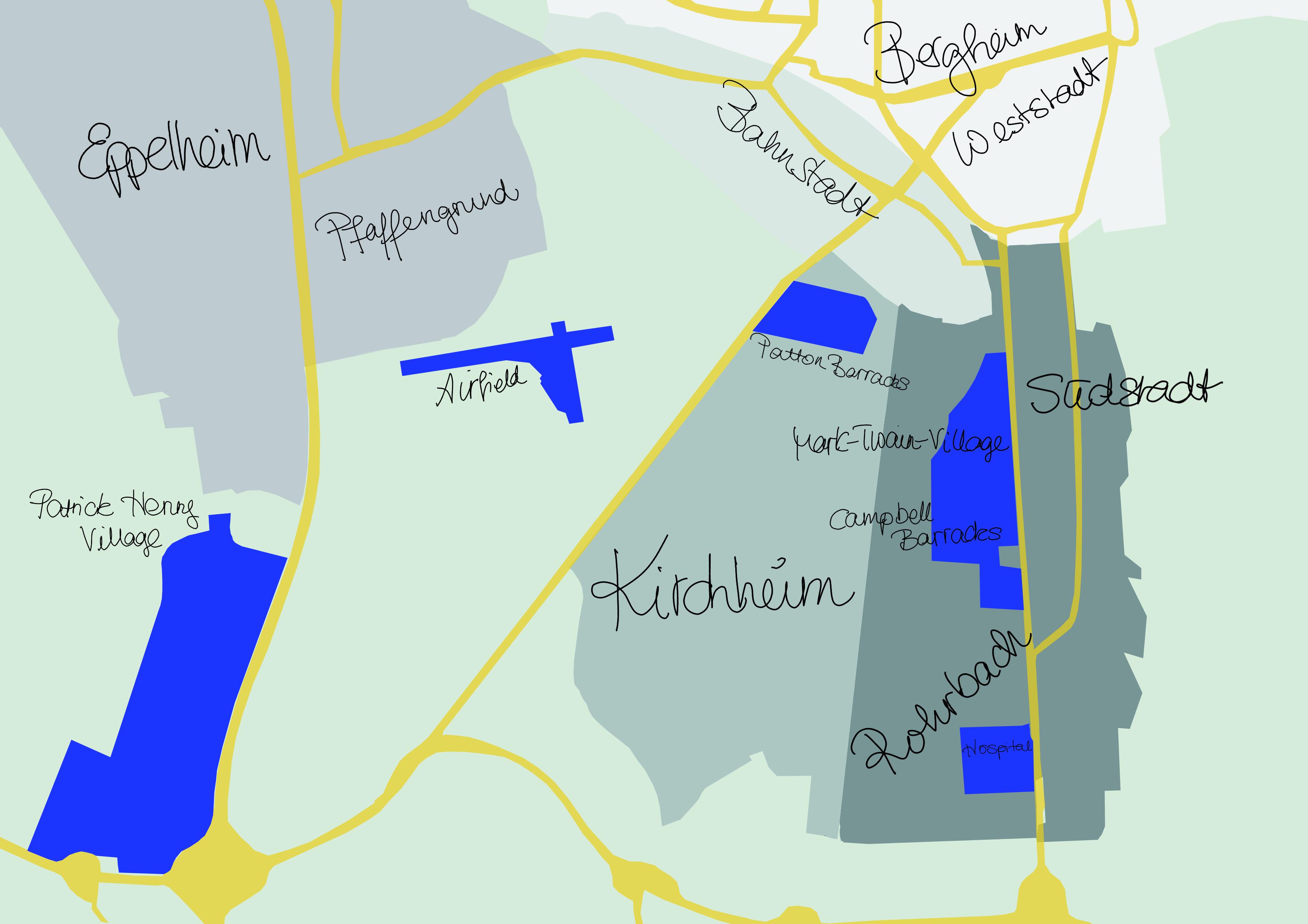 Die Heidelberger Konversionsflächen. Grafik: Verena Mengen