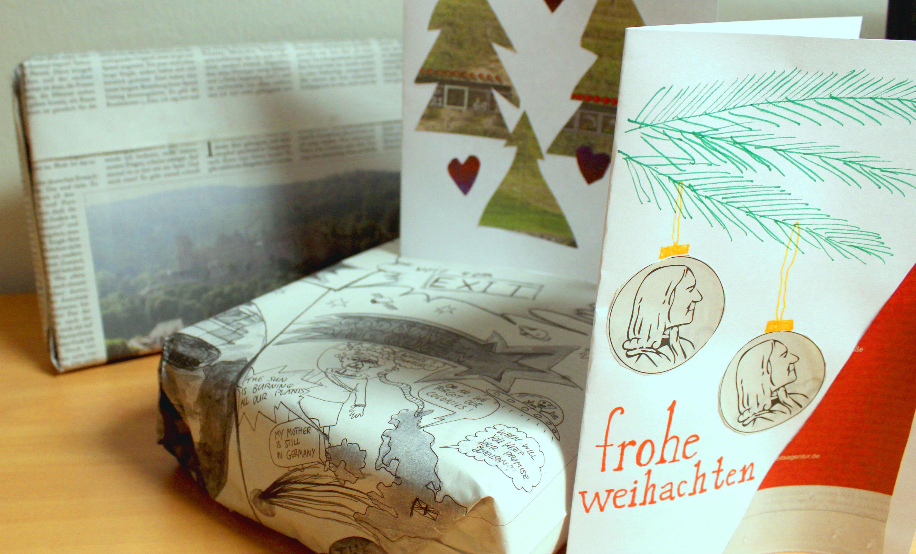 Auch aus alten ruprecht-Ausgaben können tolle Weihnachtsgeschenke gebastelt werden! Bild: Hannah Lena Puschnig