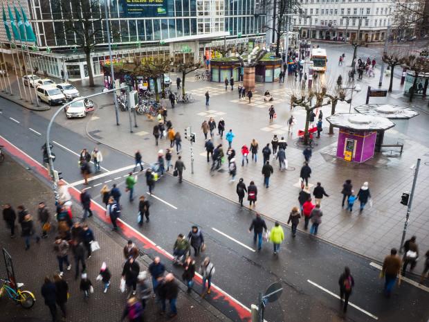 Beschlossene Sache: Der Bismarckplatz wird mit Kameras ausgestattet. Foto: Lucie Landeck