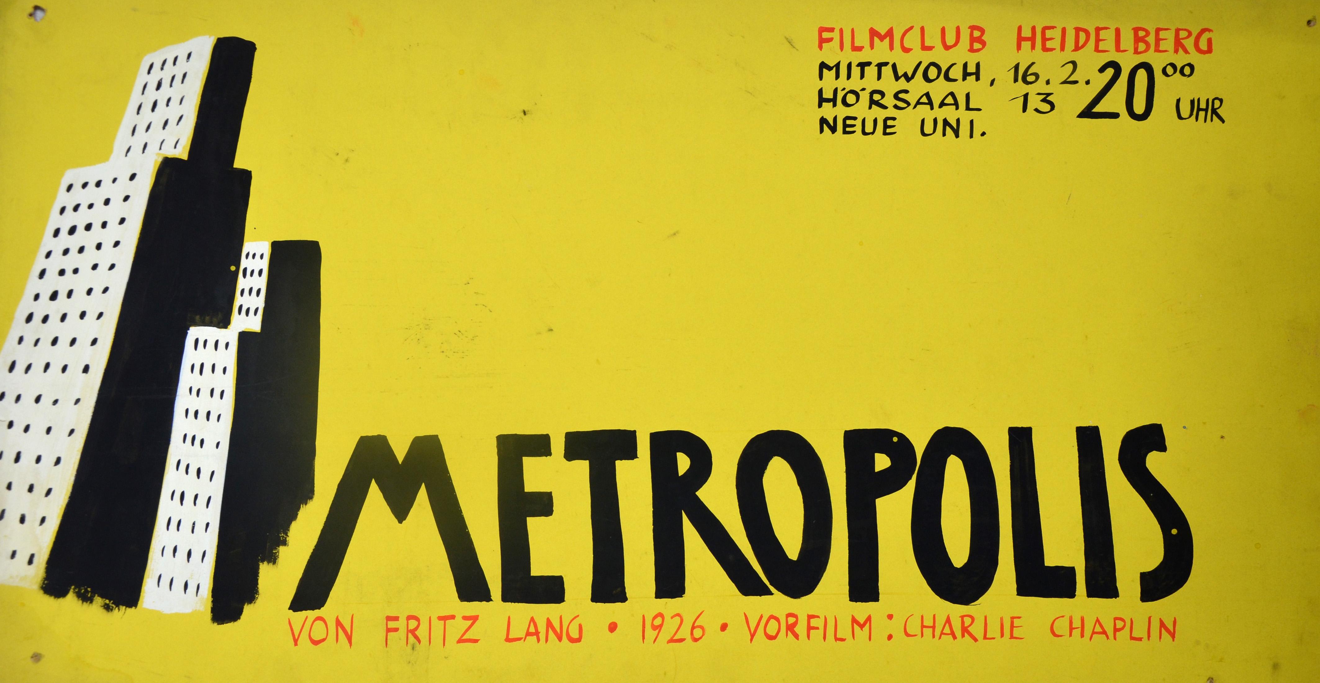 """""""Metropolis"""" sorgte nicht nur 1926 für Begeisterung. Bilder: Universitätsbibliothek Heidelberg"""