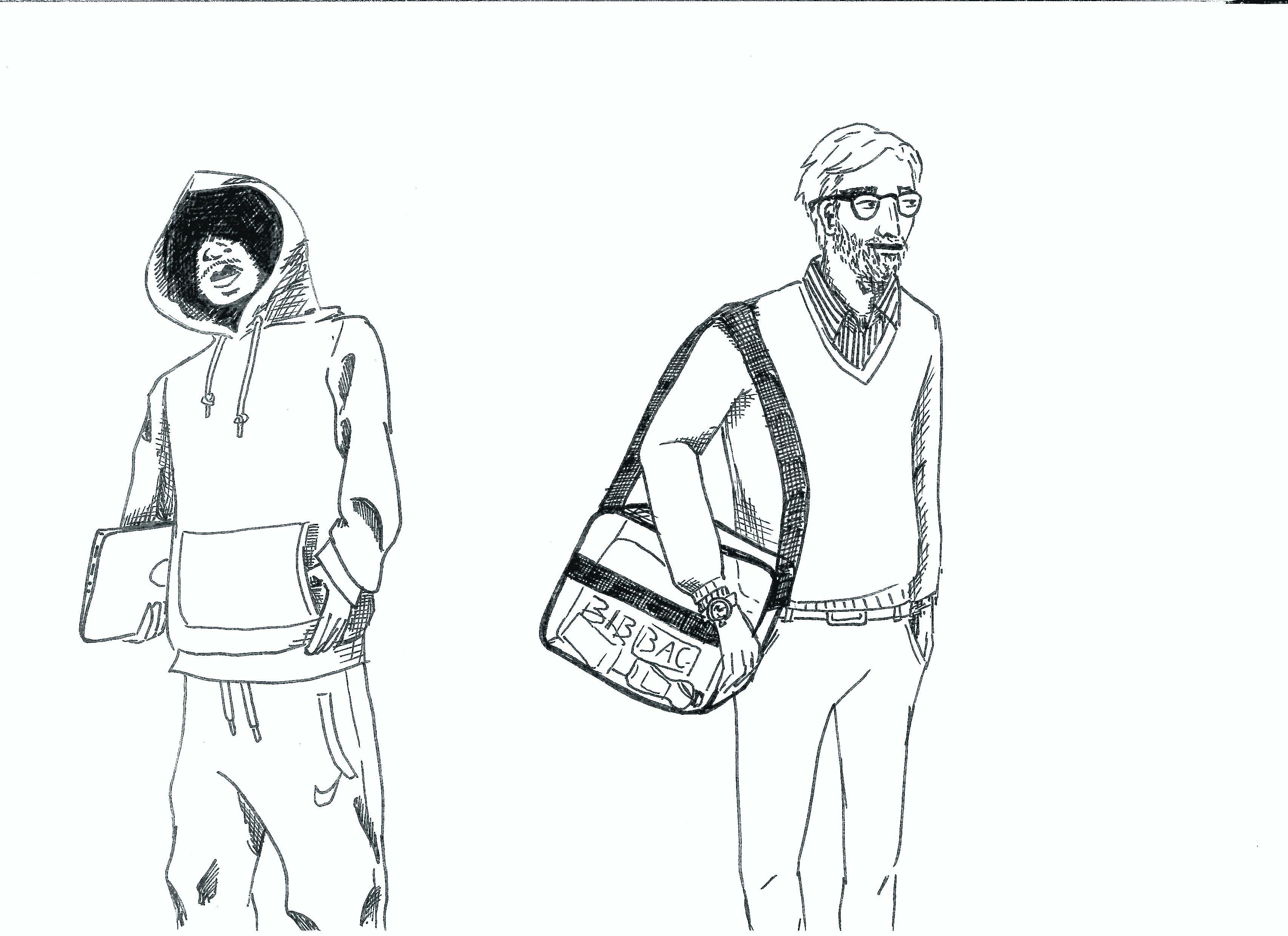 Taugt der Schlabber-Look für die Bib? Zeichnung: Bérénice Burdack