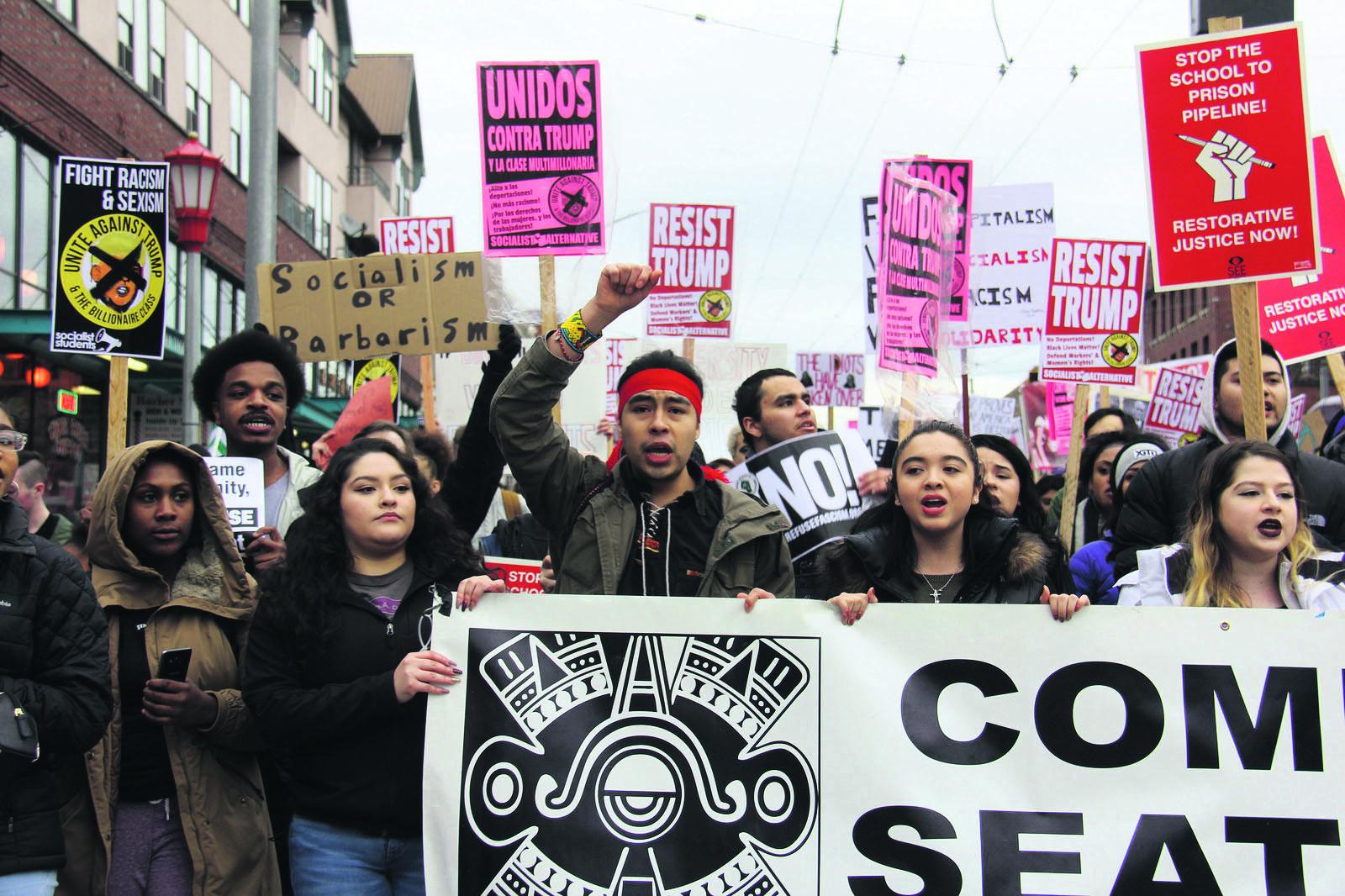 Seit der Vereidigung Donald Trumps hat sich die Protestkultur an amerikanischen Universitäten stark verändert.   [CC BY-SA 3.0], from Flickr