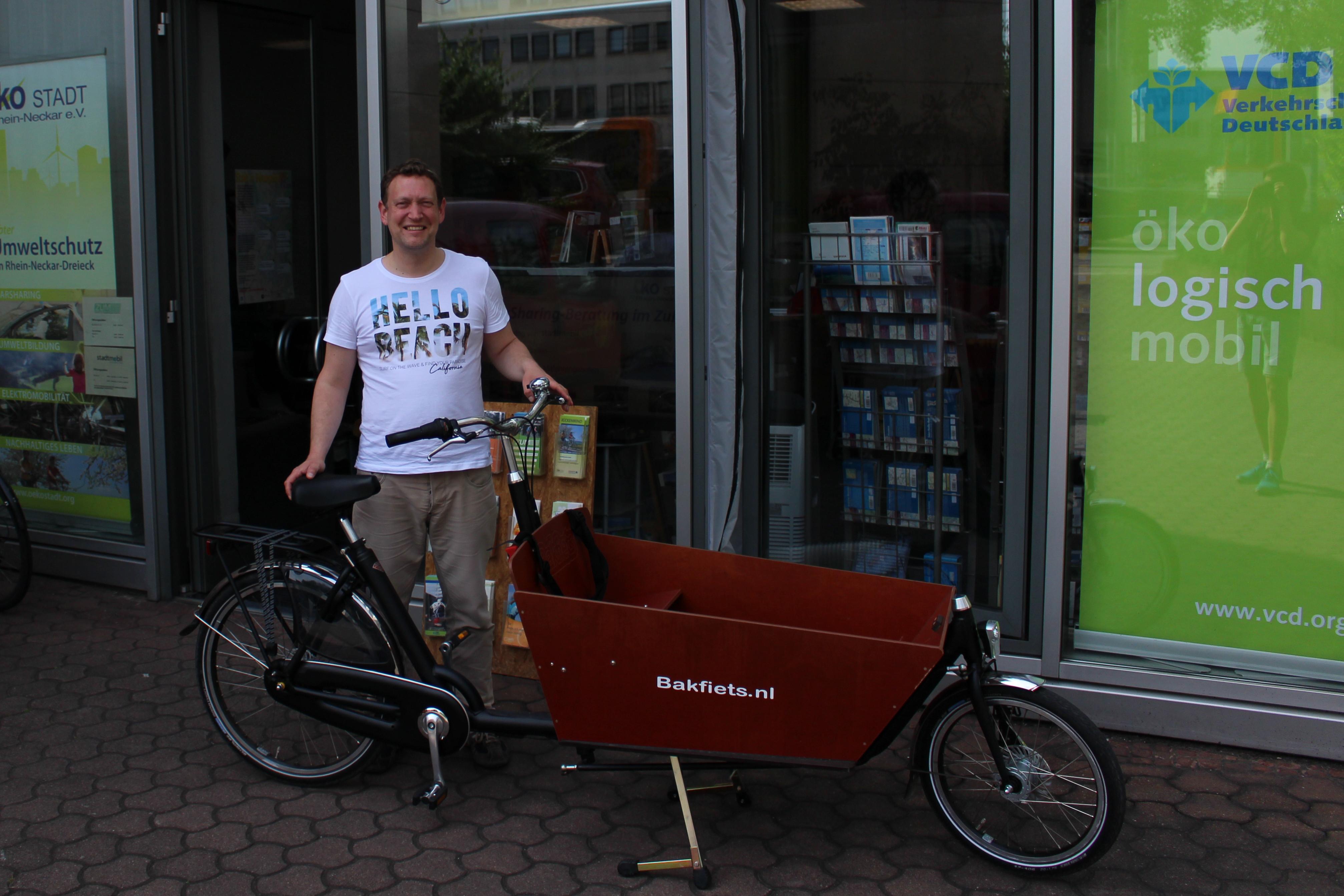 Dieses Lastenrad gibt es bei Torsten Kliesch im ZuM. Bild: Markus Haun
