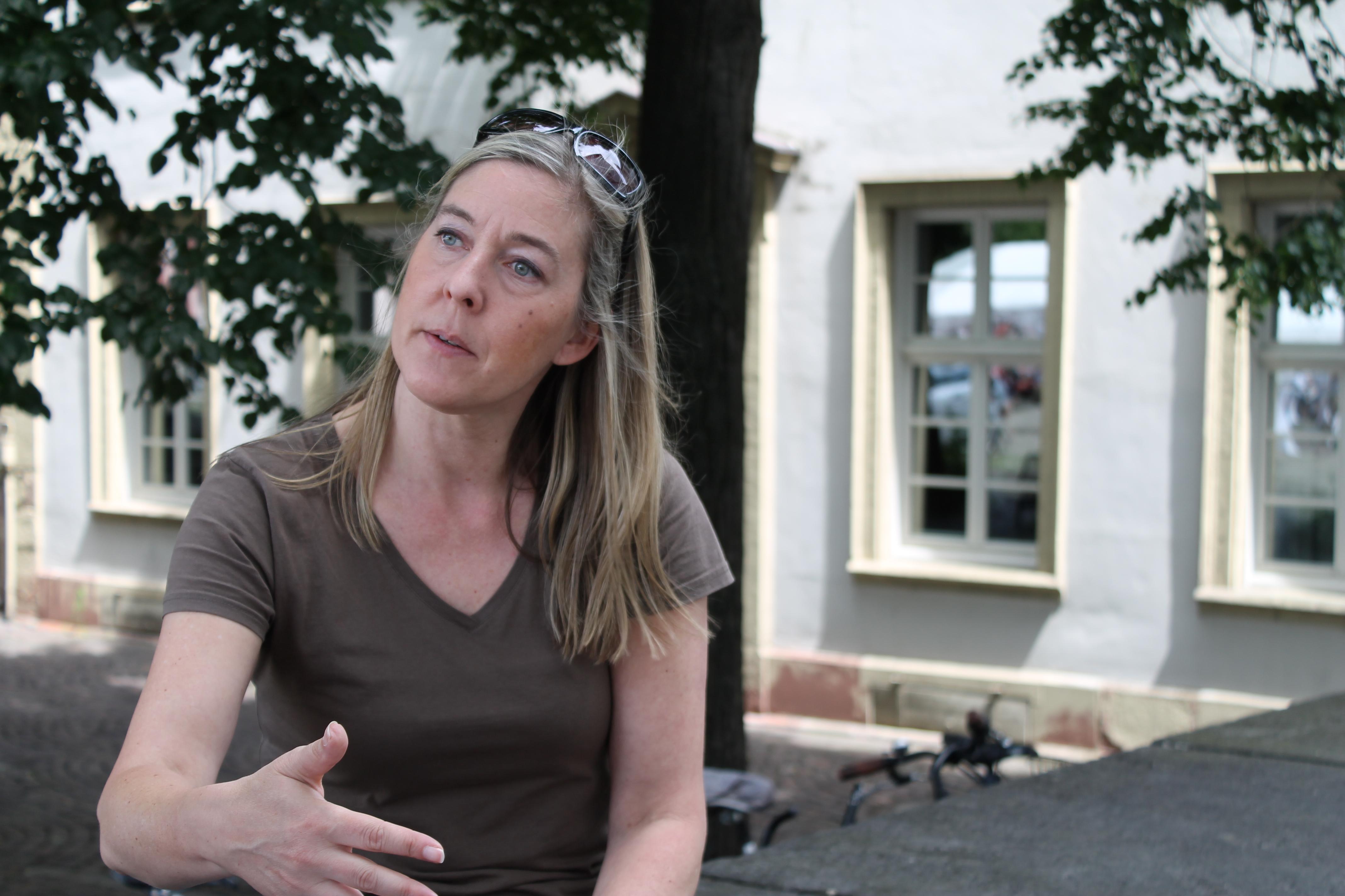 Die Informatikerin und Sprecherin des Chaos Computer Clubs, Constanze Kurz. Foto: Nele Bianga