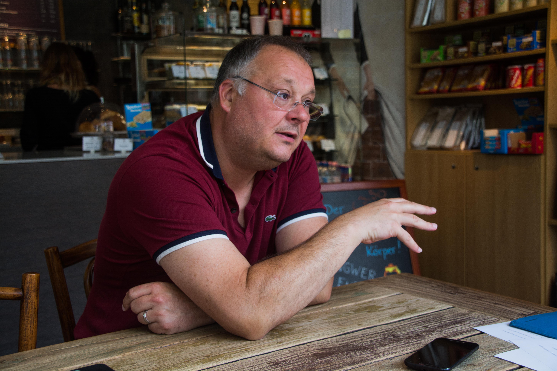 Cas Mudde im Gespräch in Heidelberg. Foto: Philip Hiller