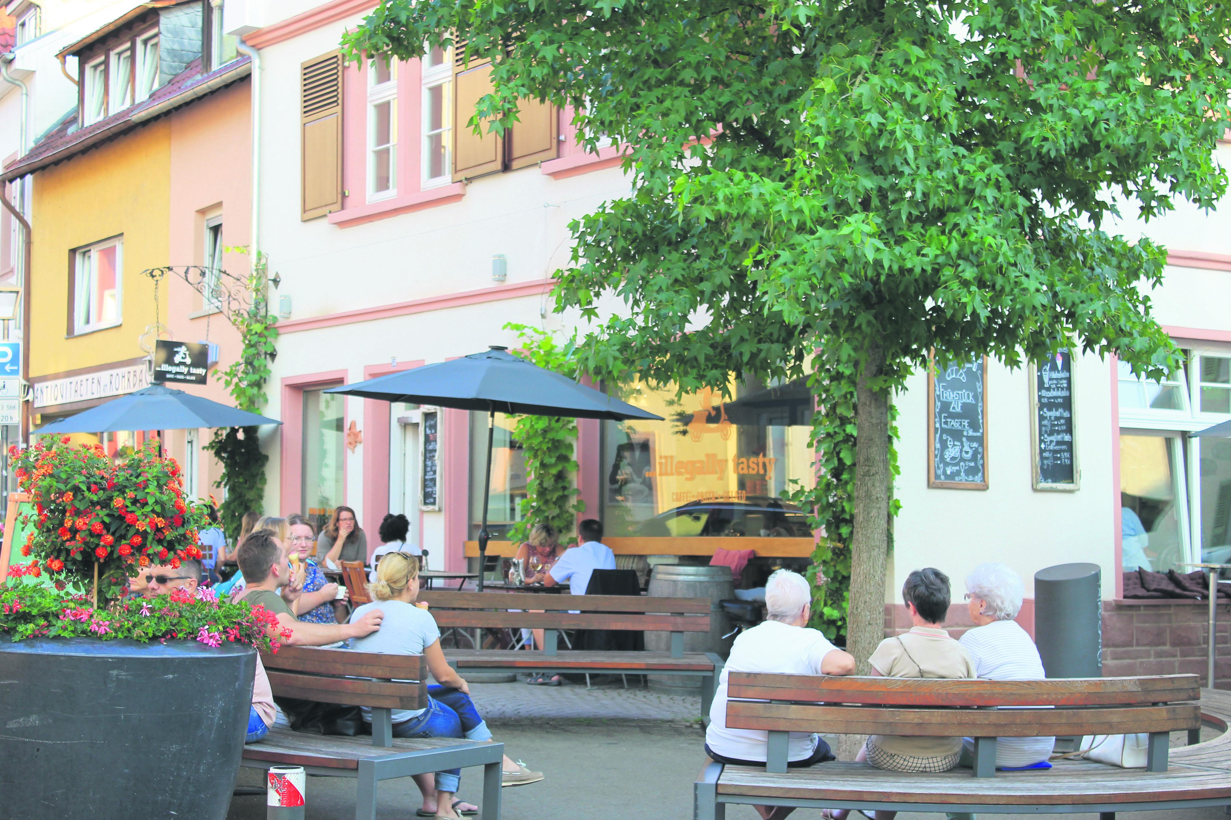 Bella italia mitten in Rohrbach: illegally tasty nutzt das romantische Flair. Foto: Maren Kaps