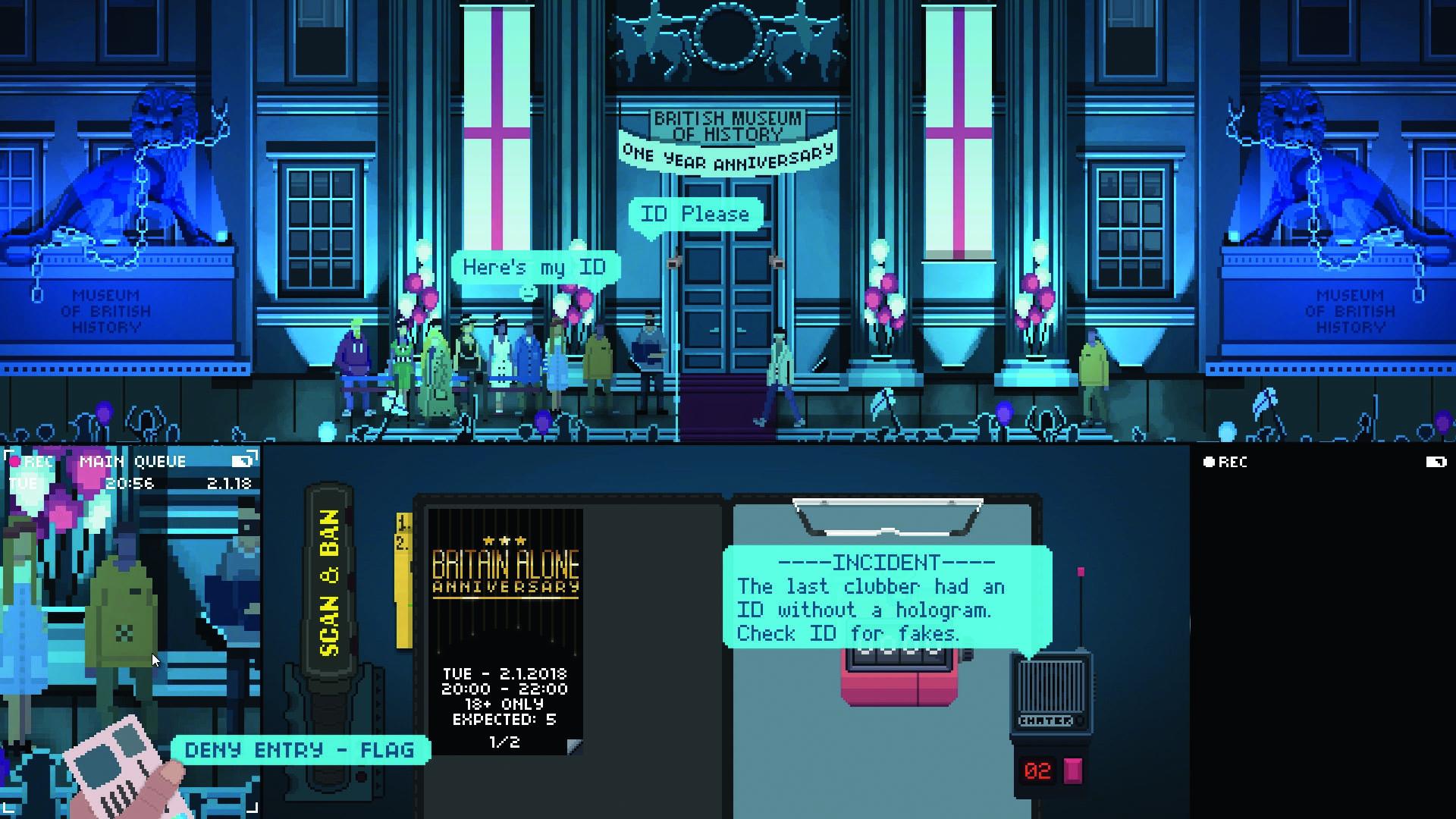 """Trotz einfacher Grafik entfaltet """"Not Tonight"""" eine bedrückende Atmosphäre. Foto: No More Robots"""