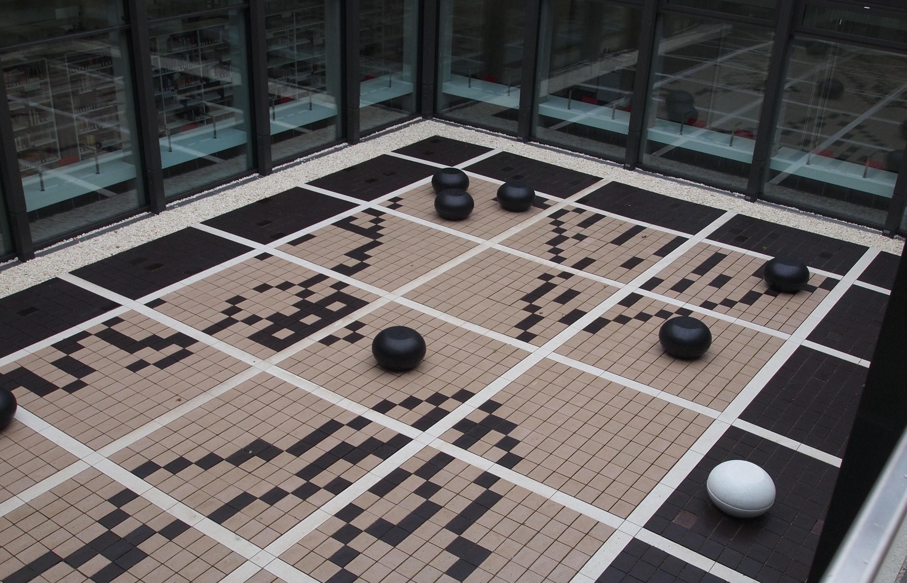 Im Innenhof des neuen Centrums finden sich viele versteckte Symboliken. Foto: Carolina Hoffmann