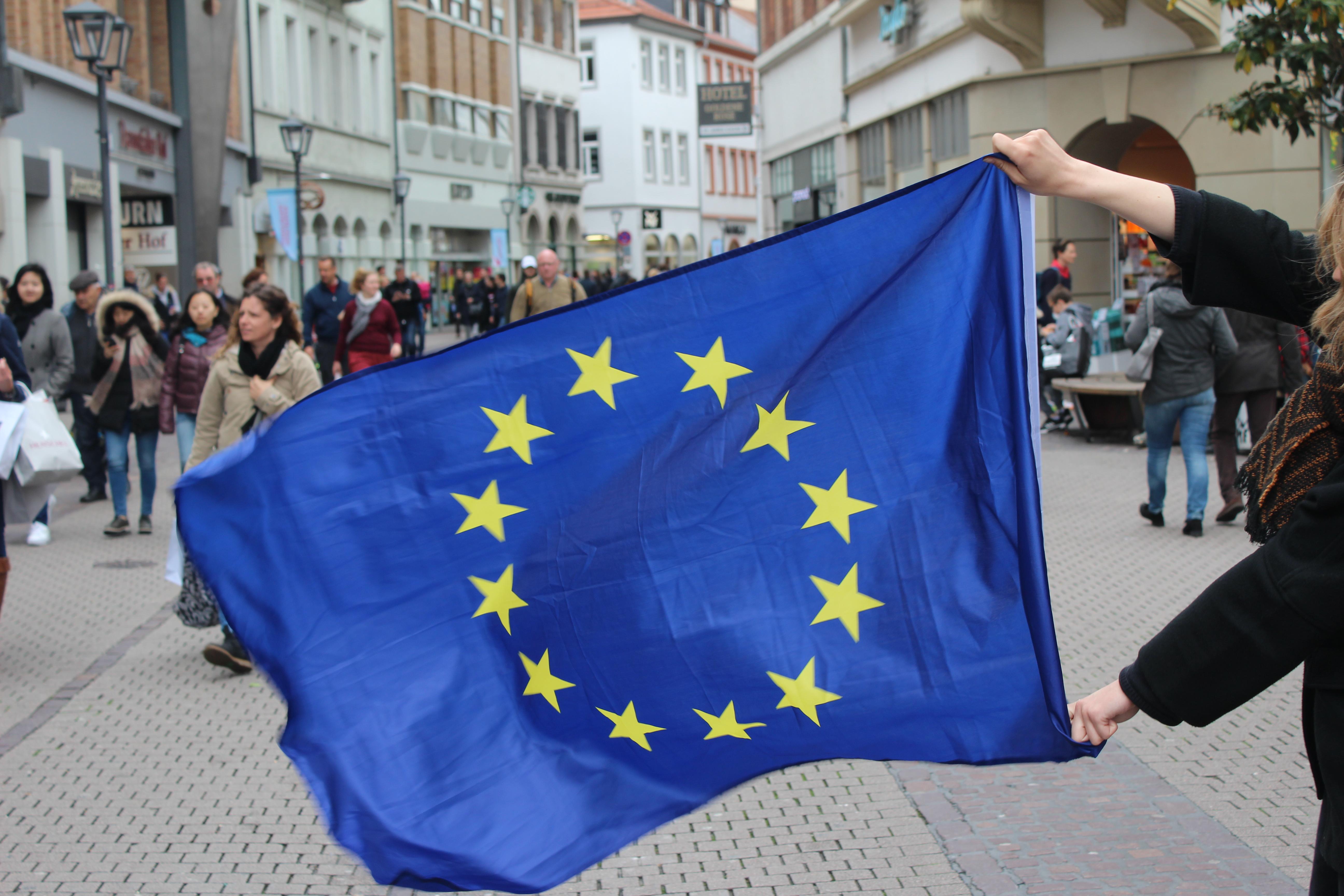 Der Geist Europas in den Straßen Heidelbergs. Foto: Selina Demtröder