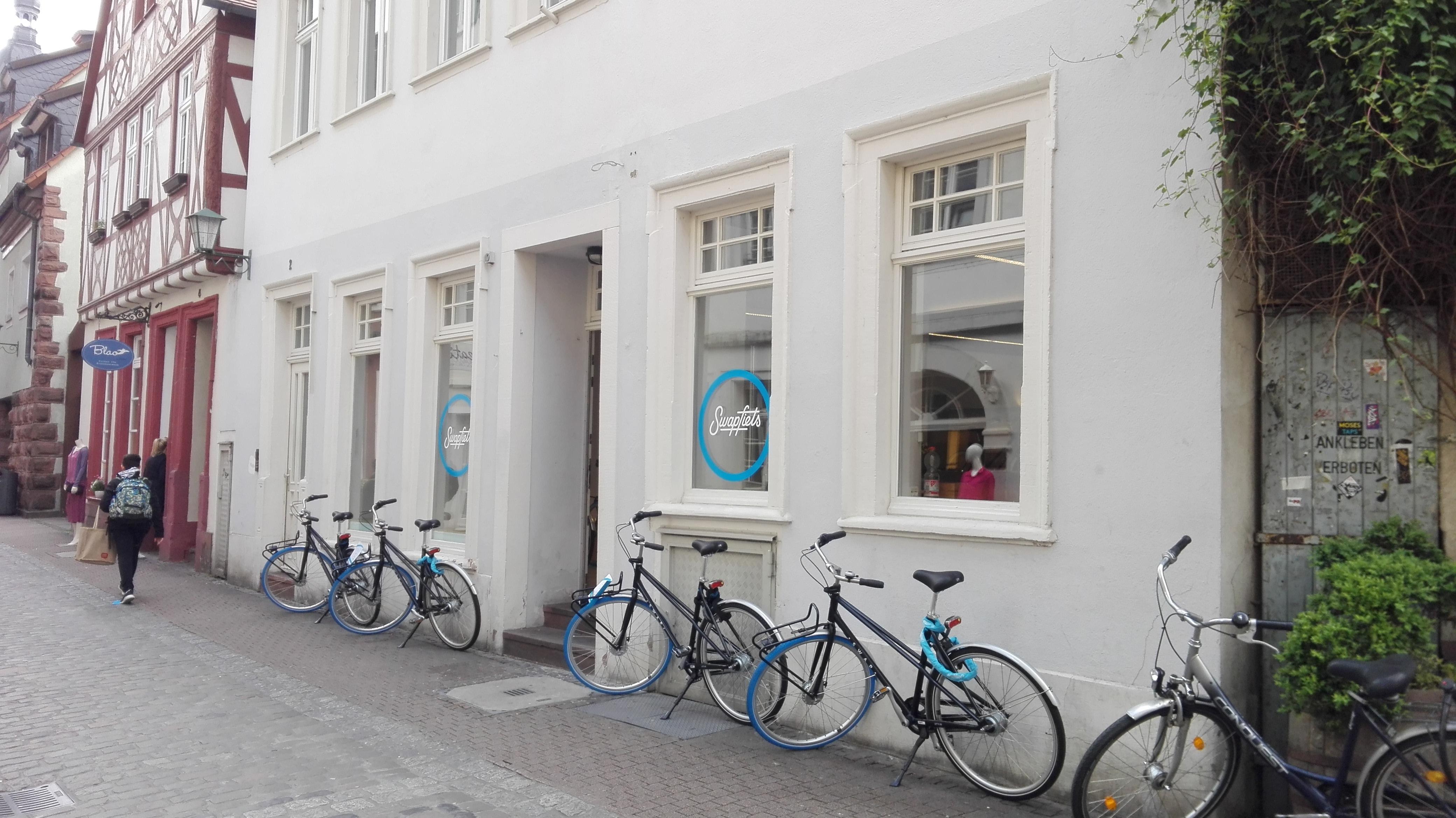 Der Swapfiets Laden in der Unteren Straße. Foto: Christina Kapp