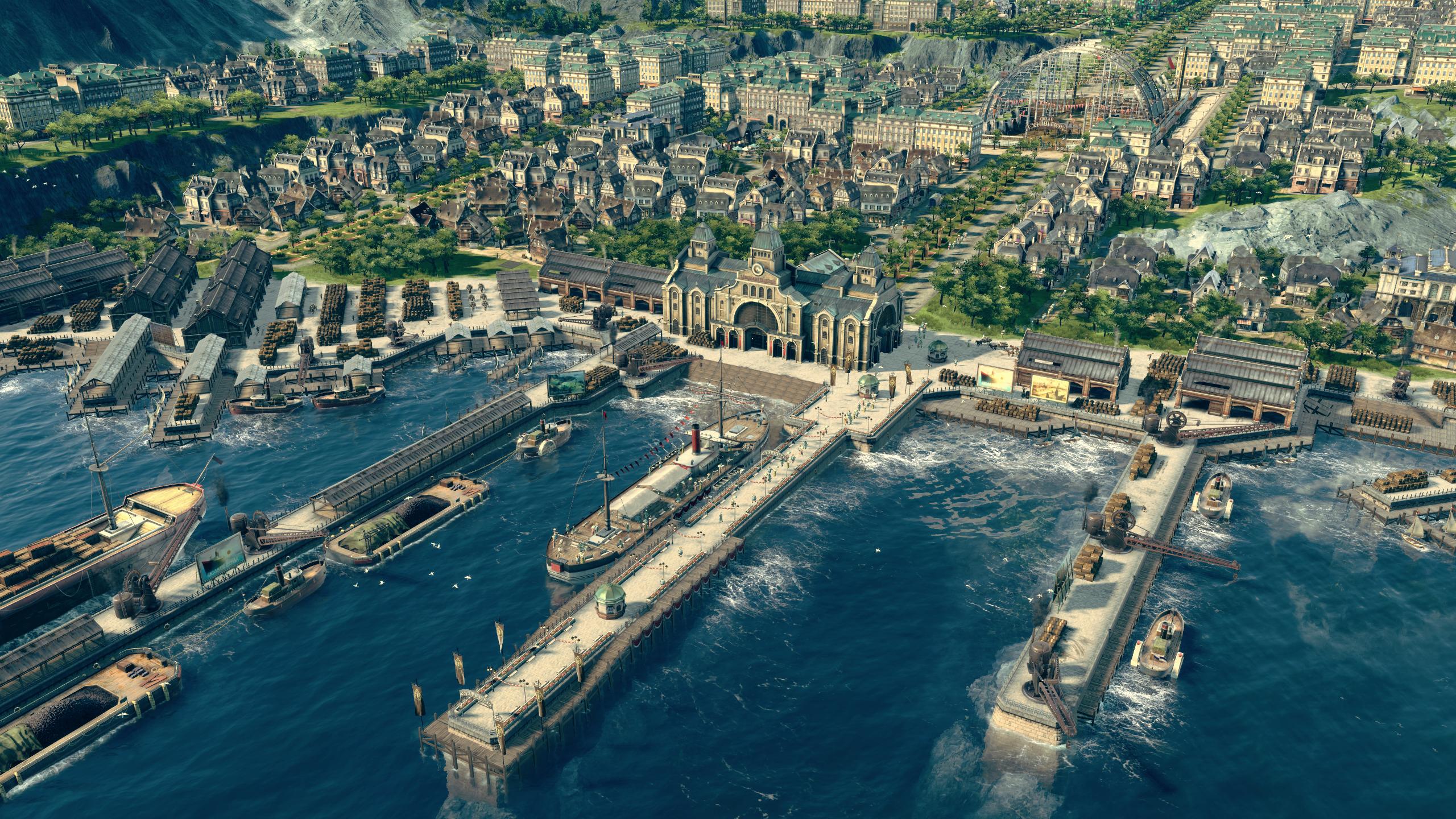 """Ein so schönes Bild wie in """"Anno 1800"""" hat die Industrielle Revolution selten abgegeben Foto: Ubisoft Germany"""