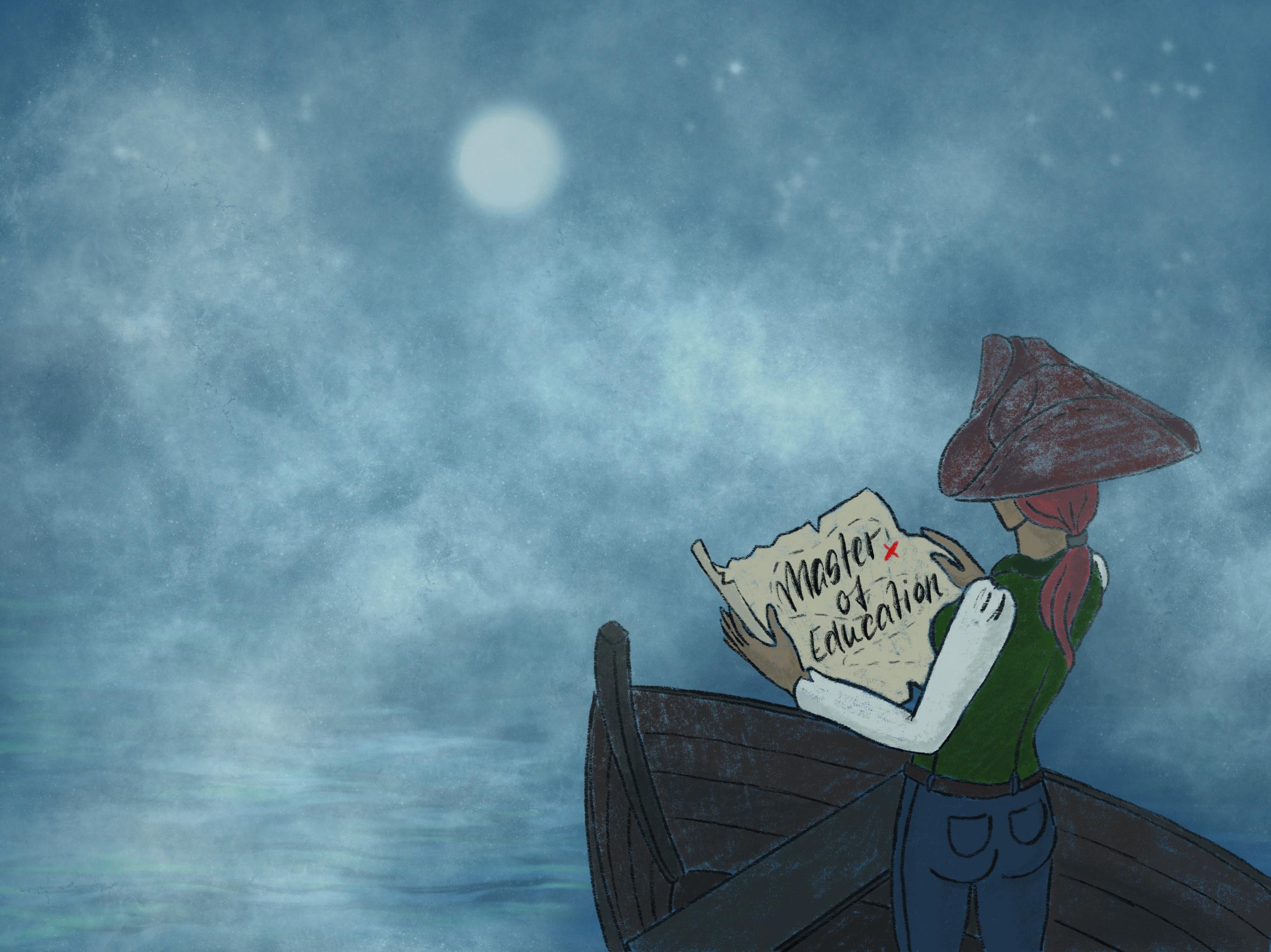 Die Fahrt zum Master of Education führt durch ein Nebelmeer. Illustration: jjo
