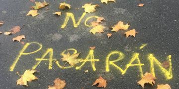 """""""NO PASARÁN"""": """"Sie werden nicht kommen"""" – ein Spruch, der in Spanien viele Menschen mobilisiert. Foto: Luisa Hinke Martinez, Xenia Miller"""