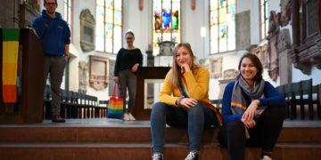 Jan-Luca Lentz, Hannah Winkler, Lilian Jost und Lydia Weber haben bereits mit der Organisation begonnen. Foto: Nicolaus Niebylski