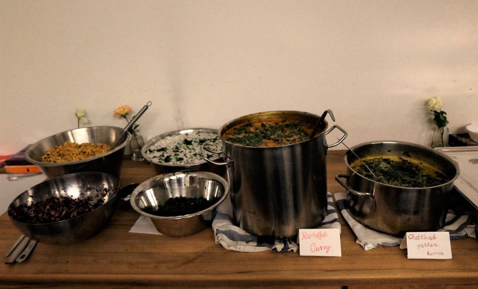 Die fertigen Speisen des gemeinsamen Kochens. Foto: Vera Peternek