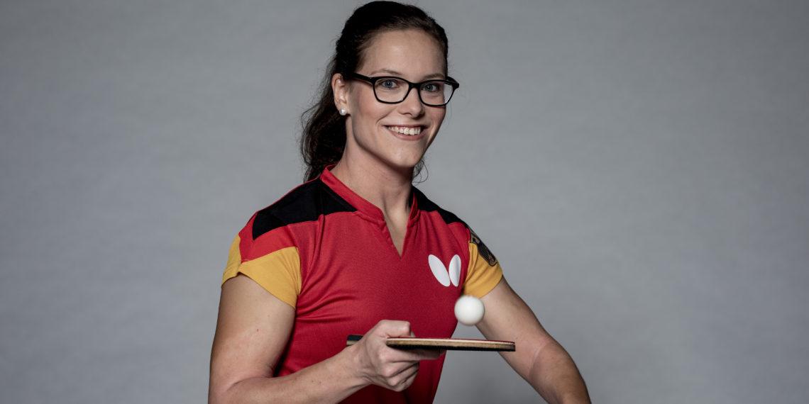 Para-Tischtennisspielerin Corinna Hochdörfer. Foto: Alexander Grüber