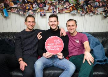 Max, Fabian und Jacob möchten aufklären und Bewusstsein schaffen. Foto Nicolaus Niebylski