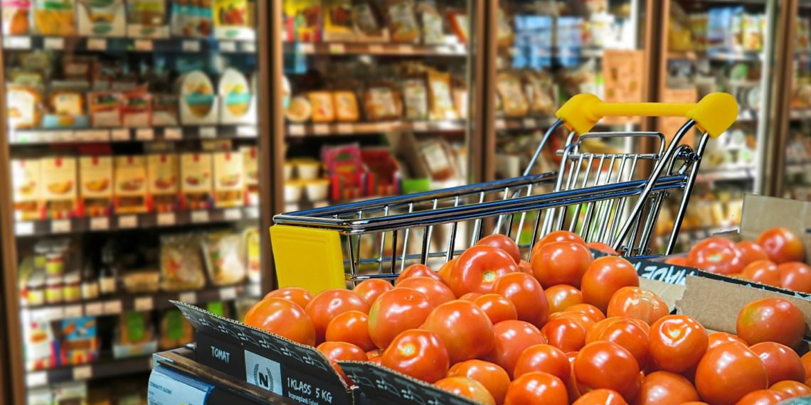 Tomaten in einem Supermarkt