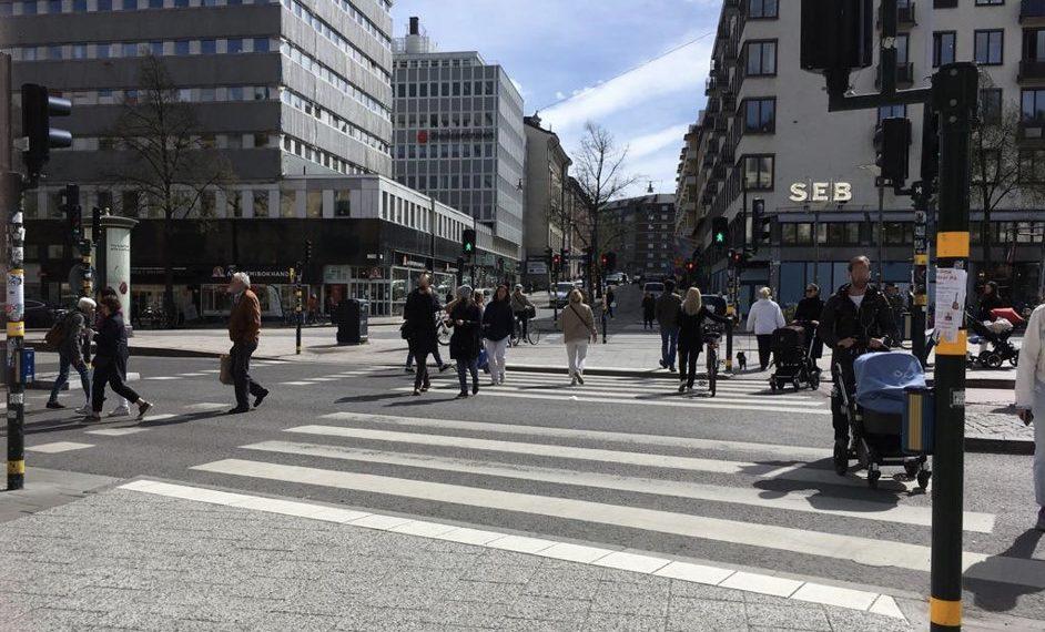 Normalität auf den Straßen Stockholms. Foto: Marit Braunschweig