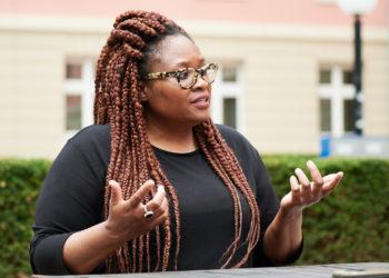 Amarachi Igboegwu im Interview. Foto: Nicolaus Niebylski
