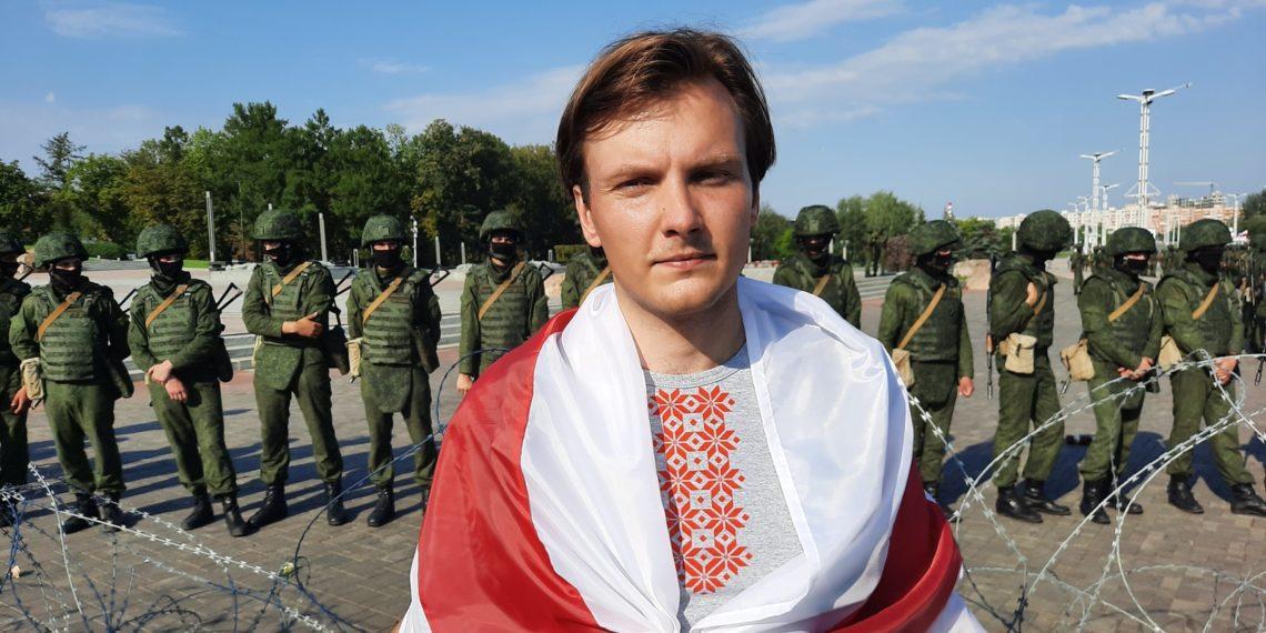 Vitali Alekseenok ist Chefdirigent des Orchesters der Abaco-Universität München. Hier sieht man ihn in seiner Heimat Belarus, in die er für die Wahl in diesem Jahr zurückgereist ist (Foto: privat)